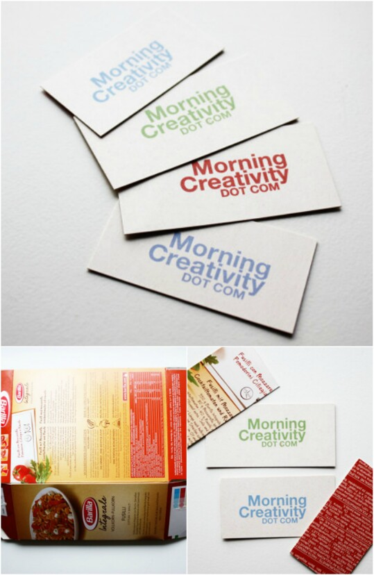 1. Make your own business cards.